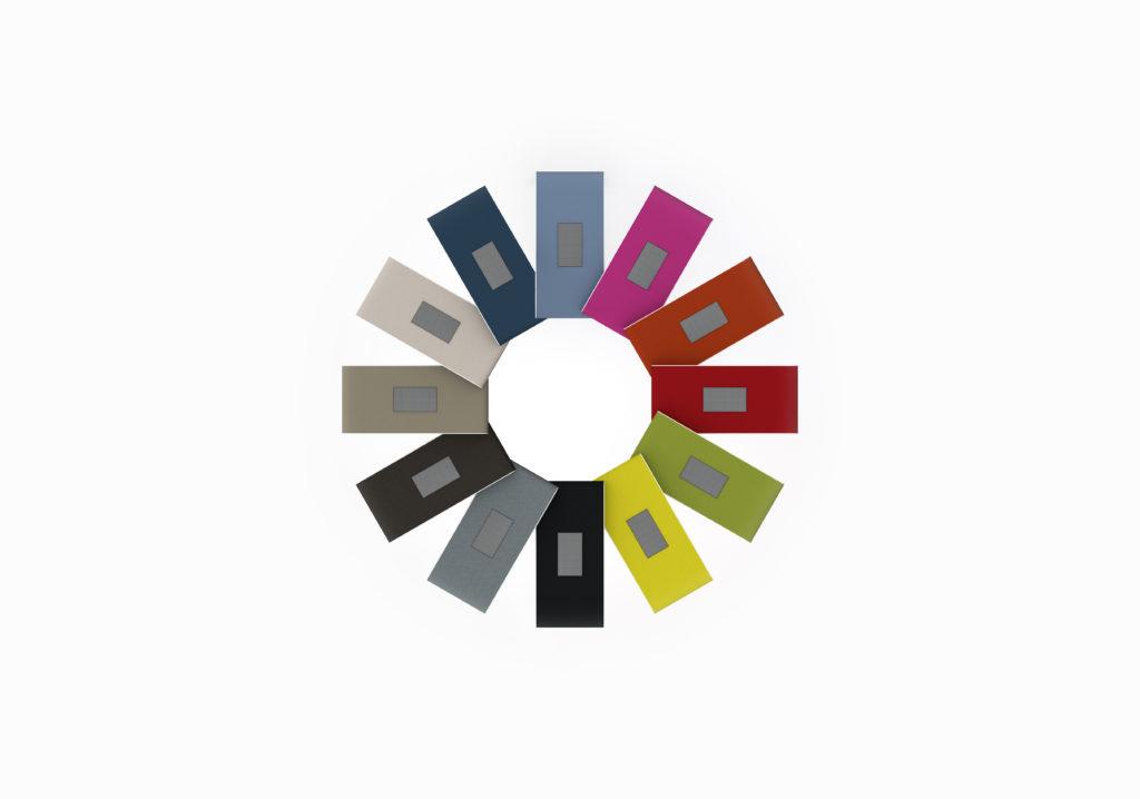 Configurator - AS Personal Talkbox - Geluiddempende - Akoustische vergadertafel en werktafel - Rustig vergaderen in een open kantoor - Overzicht kleuren
