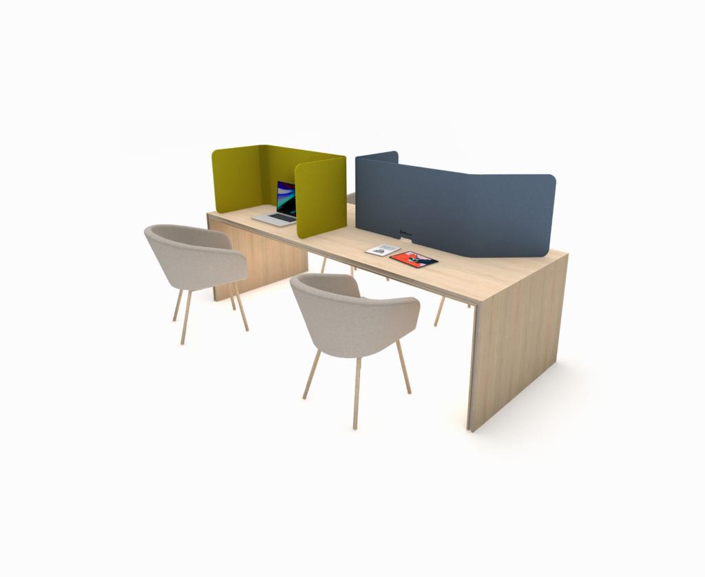 Configurator - AS Personal FocusShield - Concentratiescherm - Zijaanzicht - Groen en Blauw